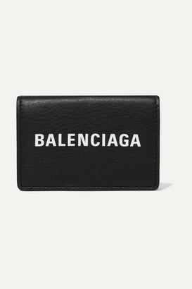 Balenciaga Everyday Printed Textured-leather Wallet - Black