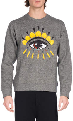 Kenzo Embroidered Eye Icon Sweatshirt, Gray