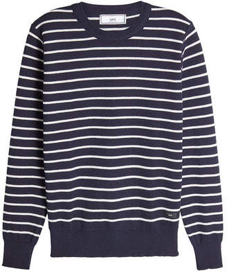 Ami Striped Wool Pullover