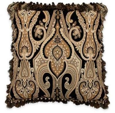 Austin Horn Classics Alexandria European Pillow Sham in Black/Gold