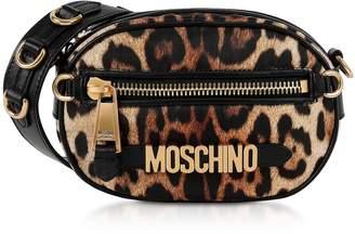 Moschino Animal Printed Leather Crossbody Bag
