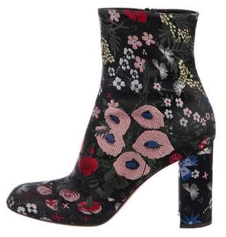 Valentino Floral Embroidered Ankle Boots