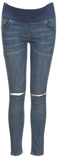 Topshop Women's Topshop Moto Jamie Ripped Skinny Maternity Jeans