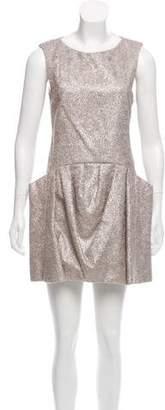 Theyskens' Theory Metallic Mini Dress