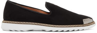 Giuseppe Zanotti Black Suede Kevin Loafers
