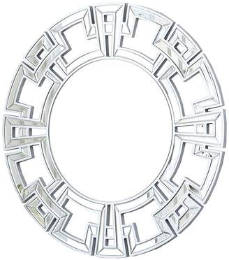Abbyson Living Audrina Silver Round Wall Mirror