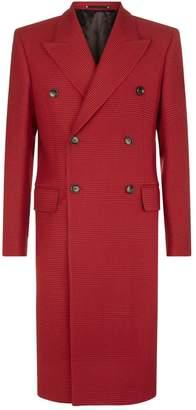 Paul Smith Houndstooth Wool Overcoat