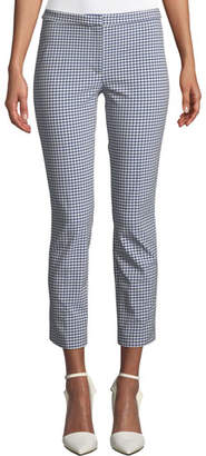 Theory Classic Skinny Gingham Ankle Pants