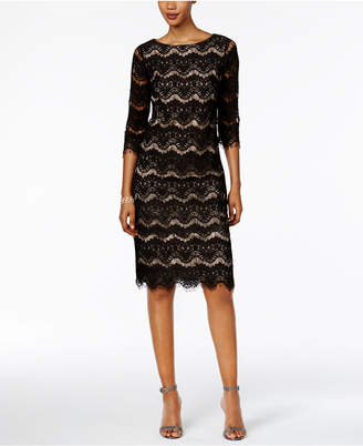 Jessica Howard Lace Illusion Sheath Dress $89 thestylecure.com