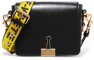 Off-White - Leather Shoulder Bag - Black $940 thestylecure.com
