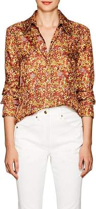 Land of Distraction Women's Sonja Floral Silk Western Blouse