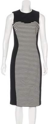 Michael Kors Striped Midi Dress