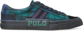 Ralph Lauren Sayer Tartan Canvas Sneaker