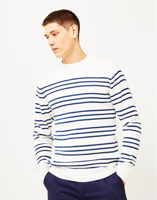 Double Stripe Mariner Sweater Off White