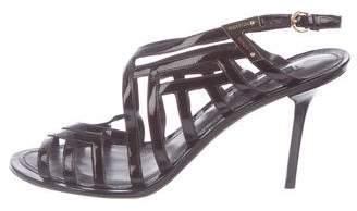Louis Vuitton Patent Leather Cage Sandals