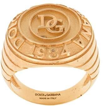 Dolce & Gabbana logo engraved ring