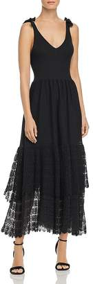 Rebecca Taylor Tiered-Lace Knit Dress