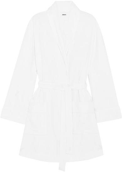 DKNY DKNY - Signature Cotton-terry Robe - White