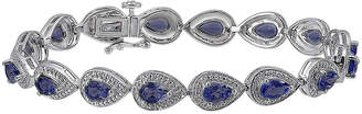 FINE JEWELRY Lab-Created Blue Sapphire and Diamond-Accent Sterling Silver Bracelet