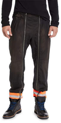 Calvin Klein Men's Resin-Coated Gabardine Jogger Pants