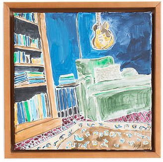 Kate Lewis Art Kate Lewis - Green Chair with Guitar Art