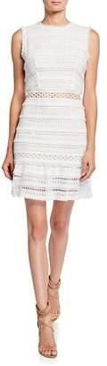 Donna Mizani Daisy Sleeveless Eyelet Mini Cocktail Dress