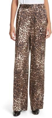 Nili Lotan Vivianna Leopard Print Silk Pants