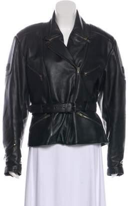 Belstaff Leather Moto Jacket Black Leather Moto Jacket