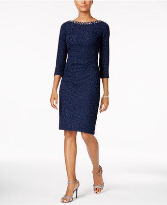 Jessica Howard Embellished Glitter Sheath Dress $119 thestylecure.com