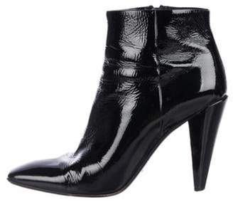 Prada Patent Leather Ankle Boots Black Patent Leather Ankle Boots
