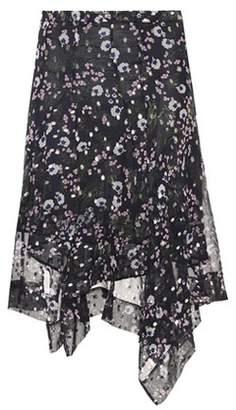 Isabel Marant Floral-print handkerchief hem skirt