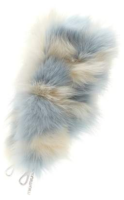 Miu Miu Striped fur bag strap