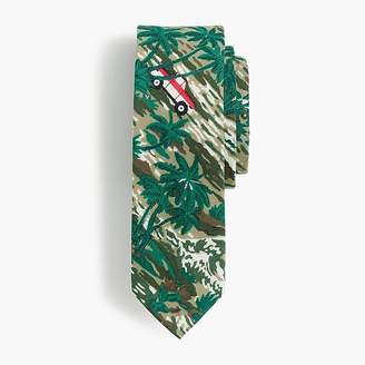 J.Crew Boys' cotton tie in oasis print