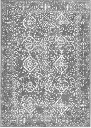 nuLoom Bodrum Vintage Odell Framed Floral Rug