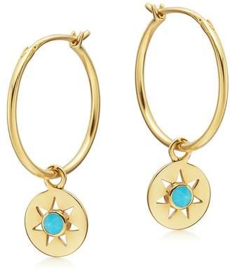 Missoma Hoop Turquoise 18kt Gold Earrings