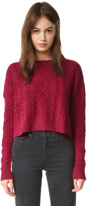 Autumn Cashmere Cropped Boxy Fisherman Sweater $319 thestylecure.com
