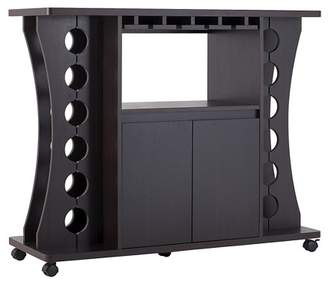 HOMES: Inside + Out Claren Curved Standing Wine Rack Wood/Espresso