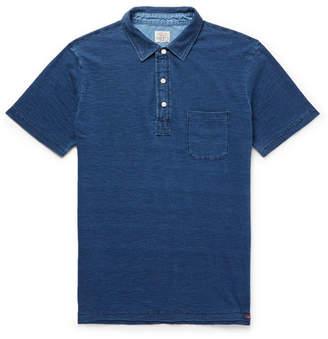 Faherty Indigo-Dyed Slub Cotton Polo Shirt