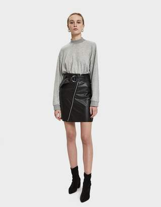 Stelen Nia Faux Leather Belted Mini Skirt