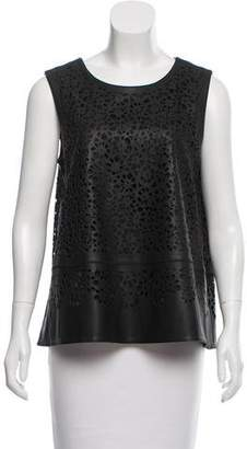 Zac Posen Sleeveless Leather Top w/ Tags