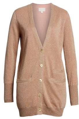 J.Crew Collection Long Cardigan in Double Knit Lurex(R)