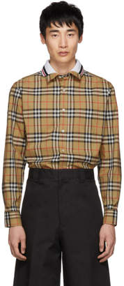 Burberry Beige Check Edward Shirt