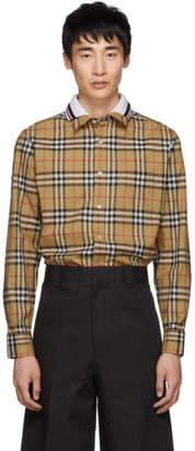 Burberry Beige Check Edward Shirt