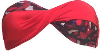 "Lisa King Red Camouflage Bandeau Bikini Top ""Harper"""