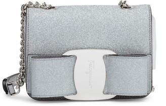 Salvatore Ferragamo Vara Rainbow silver glitter bag ed659154aaae8