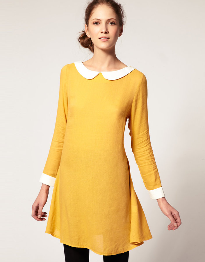 Dansk Contrast Collar Dress