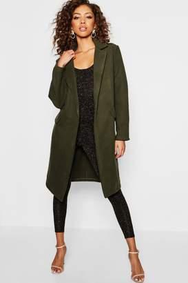 boohoo Tailored Wool Look Coat