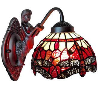 Tiffany & Co. AMORA Amora Lighting AM097WL08 Style Dragonfly Wall Sconce Lamp Fixture