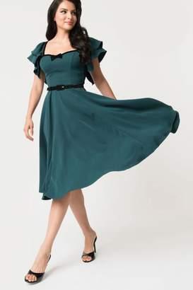 206700699ef3 Unique Vintage Micheline-Pitt Carmelita Swing-Dress