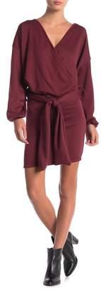 Couture Go Surplice Neck Sash Dress